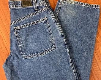 90s Vintage Levis Silver Tab Denim Jeans, 90s Baggy Levis Jeans, 90s High Waisted Mom Jeans, Loose Fit Levis Jeans, 90s Hip Hop Fashion