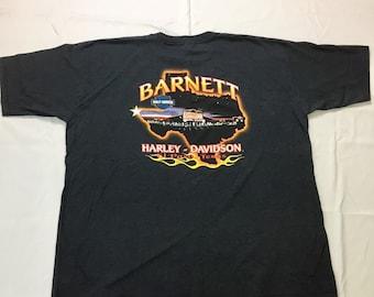 Y2K Vintage Harley-Davidson Barnett El Paso Texas Graphic Tee Shirt 3XL, Barnett Harley Davidson Texas Map Shirt 3Xl, Harley Biker T Shirt