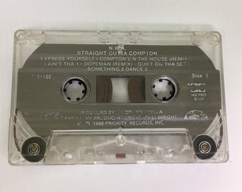 NWA - Straight Outta Compton, Vintage Cassette Tape, 90s Hip Hop Cassette Tape, 90s Rap Cassette, 90s Rap Tape, 90's Hip Hop, NWA Cassette