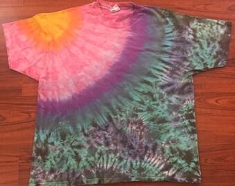 Vintage 90's tie dye single stitch xxl