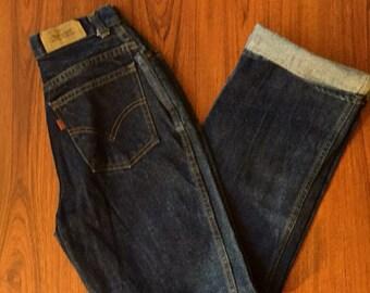 80s Vintage Levi's Jeans, Orange Tab Levis, Retro Blue Jeans Tapered leg Jeans, High Waist Jeans, Zipper Fly Jeans, Mom Jeans, Vintage Denim