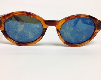 90s Vintage Tortoiseshell Small Round Cat Eye Sunglasses, 90s Sunglasses, Brown Sunglasses, Cateye Sunglasses, Tortoiseshell Sunglasses