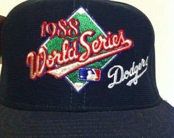 1988 World Series NWT Los Angeles Dodgers New Era Baseball Hat, Vintage LA DODGERS snapback baseball cap, New With Tags Old Stock Dodgers