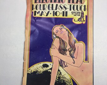 Original 1969 Electric Flag Cheetah Venice Ca Music Concert Flier Poster Advert
