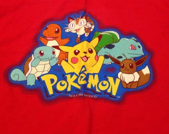 Vintage original Pokemon 1999 long sleeve shirt boys 8-10