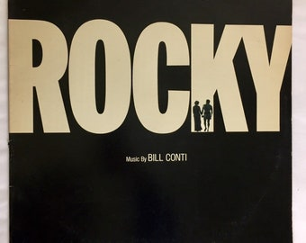Rocky Original Motion Picture Score, Movie Soundtrack, Vintage Vinyl Record, Soundtrack Record, Soundtrack Vinyl, Soundtrack Album, 33 RPM