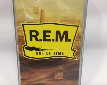 R.E.M - Out of Time Cassette Tape, R.E.M. Cassette, Rem Tape, 90s music, Alternative Rock Cassette Tape, 90s Alternative Music, 90s Rock