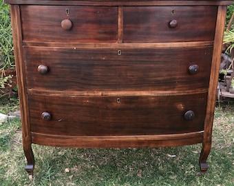 Gentil Antique Dresser, Antique Chest Of Drawers, Vintage 5 Drawer Dresser, Rustic  Dresser, Shabby Chic Dresser, Farmhouse Style Chest Of Drawers