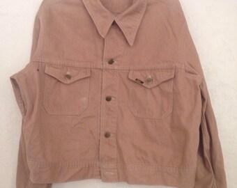 90s Vintage Lee Corduroy Jacket, Light Brown Jean Jacket, Vintage Button Up Jacket, Mens light Jacket, Womens Light Jacket