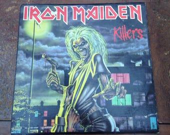 Iron Maiden - Killers Vintage Vinyl Record Album LP 33 RPM, 80s Heavy Metal Vinyl, 80s 80s Heavy Metal Record, 80s Heavy Metal Album