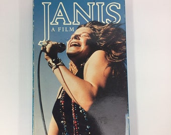 Janis The Way She Was A Film VHS Tape, Janis Joplin documentary, 60s Music Documentary Film, 90s Vintage Janis Joplin Documentary Video Tape
