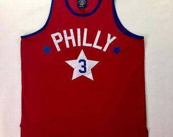 Vintage Philadelphia 76ers Allen Iverson #3 Steve & Barrys Apparel NBA Jersey Medium, Vintage Philly Sixers Iverson Jersey, Iverson Jersey M