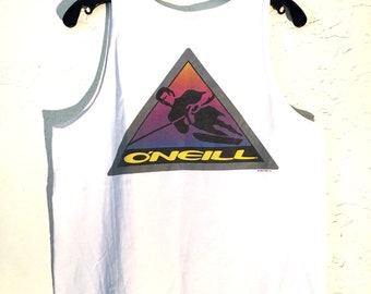 Vintage ONeill 90s Tank Top, Vintage 90s Tank Graphic Tee, Graphic Tshirt, Surf Tee, Surf T Shirt, Surf Tank Top, Surf Tank, Beach Tank Top