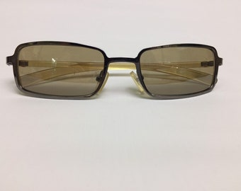 90s Vintage Small Rectangular Sunglasses, 90s Sunglasses, Retro Black Sunglasses, Small Sunglasses, Vintage Sunglasses