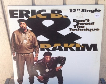 Eric B & Rakim - Dont Sweat the Technique Vintage Vinyl Record Album Single, 90s East Coast Hip Hop Vinyl Record, 90s Jazz Rap Vinyl Record