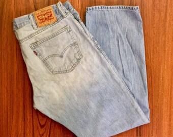 Y2K Vintage Levis 514 Jeans 38, Stone Wash Levis, Straight Fit Levis, Mid Rise Levis Jeans, Light Wash Levis Jeans, Vintage Levis Jeans 38