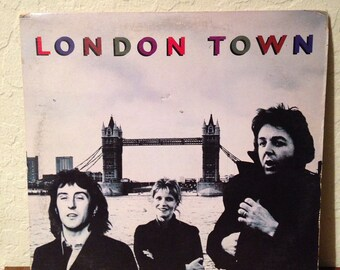 Wings - London Town, Vintage Vinyl Records, Vintage Vinyl Albums, Vinyl LP, 70s Records, Rock Vinyl Records, Rock Albums, Rock Records