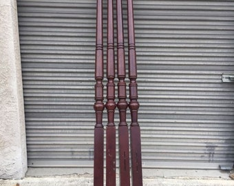 Sheraton Tall Red Stained Maple bed Post bed legs four post bed legs