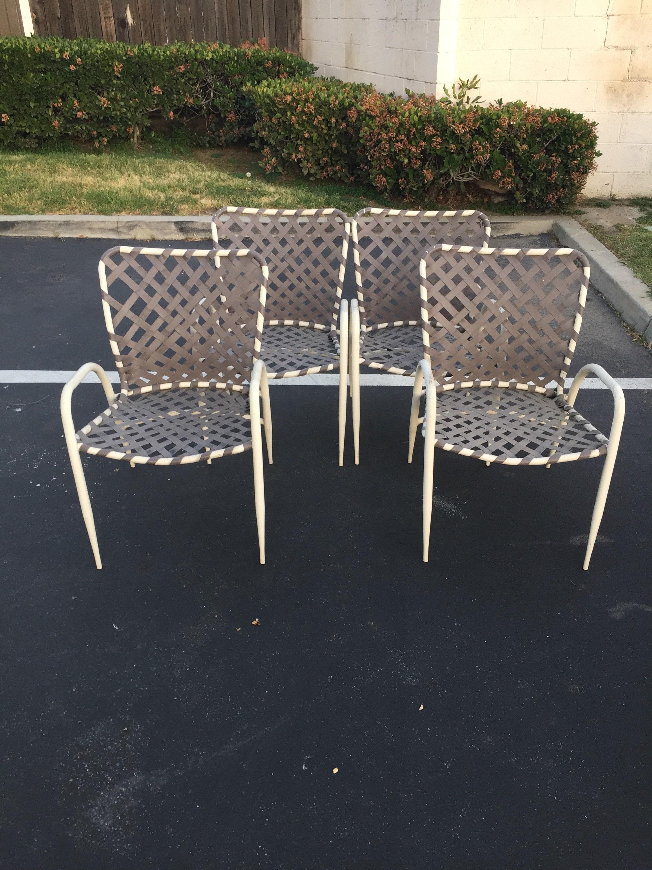 gallery photo ... & Set of Four (4) Brown Jordan Tamiami Patio Chairs Vintage Garden ...