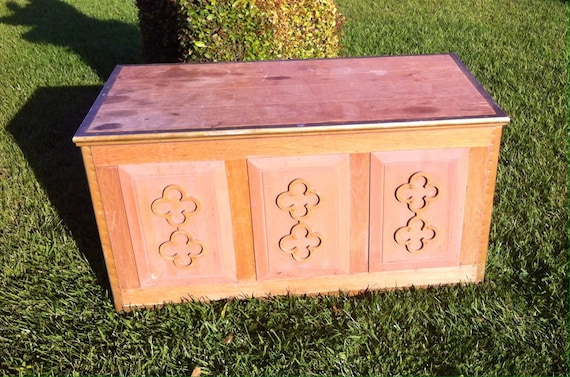 Peachy Vintage Bohemian Boho Chic Solid Oak Wood Trunk Hope Chest Toy Chest Storage Bench Carved Wood Painted Furniture Coffee Table Caraccident5 Cool Chair Designs And Ideas Caraccident5Info
