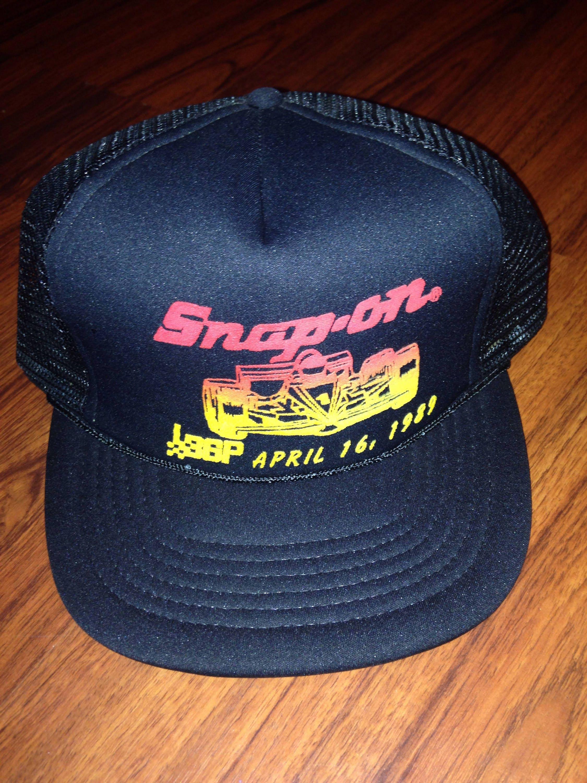 cb2091c701b7a7 90s Vintage Snap On Racing Snapback Trucker Hat, 90's Race Car ...