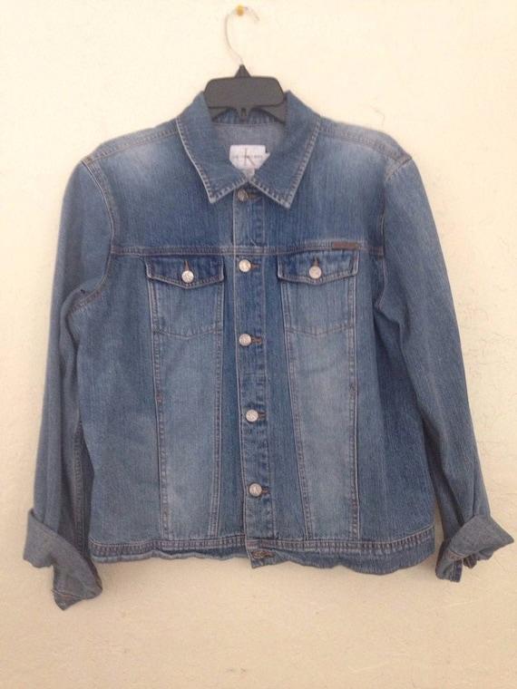 90s Vintage Calvin Klein CK Jean Jacket, Calvin Kl