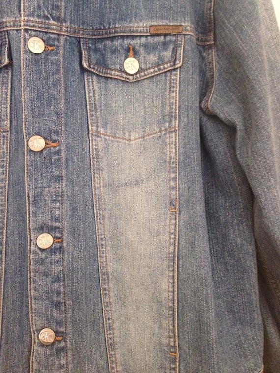 90s Vintage Calvin Klein CK Jean Jacket, Calvin K… - image 3