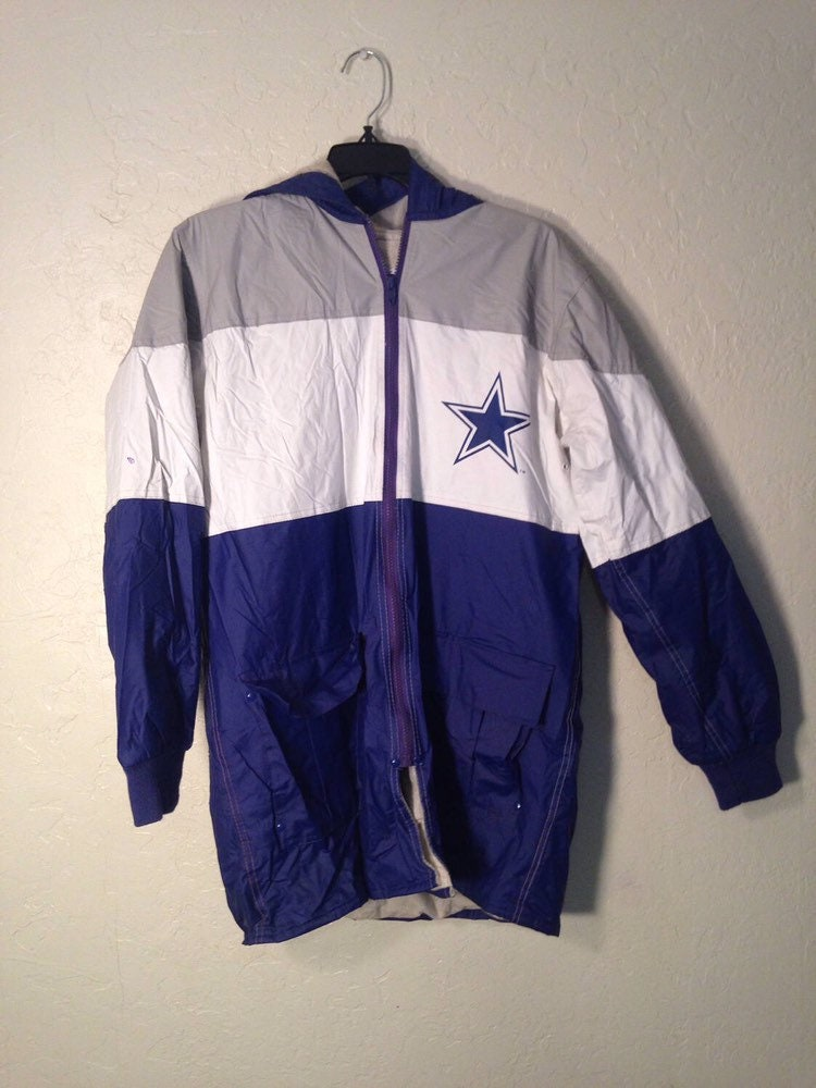 premium selection da44f cd339 90s Vintage Dallas Cowboys Oversized Rain Coat Jacket ...
