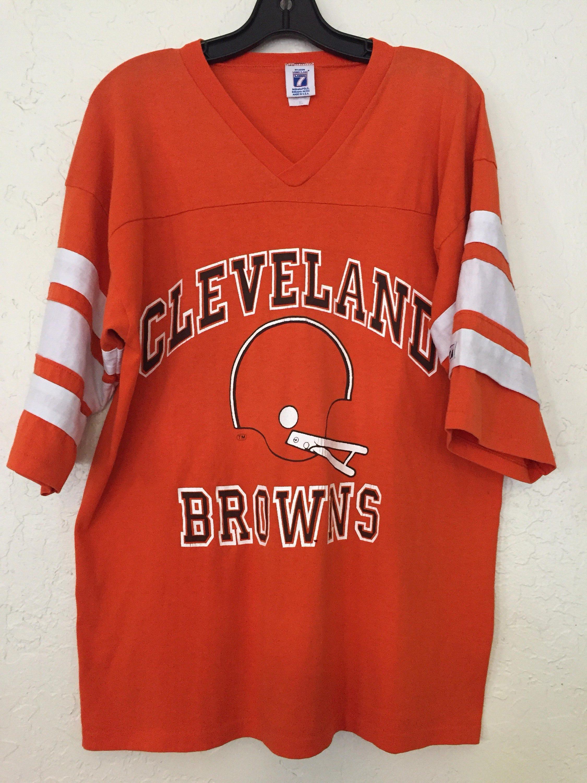 c3520d4f Vintage Cleveland Browns Graphic V Neck Tee Jersey Style, Vintage ...
