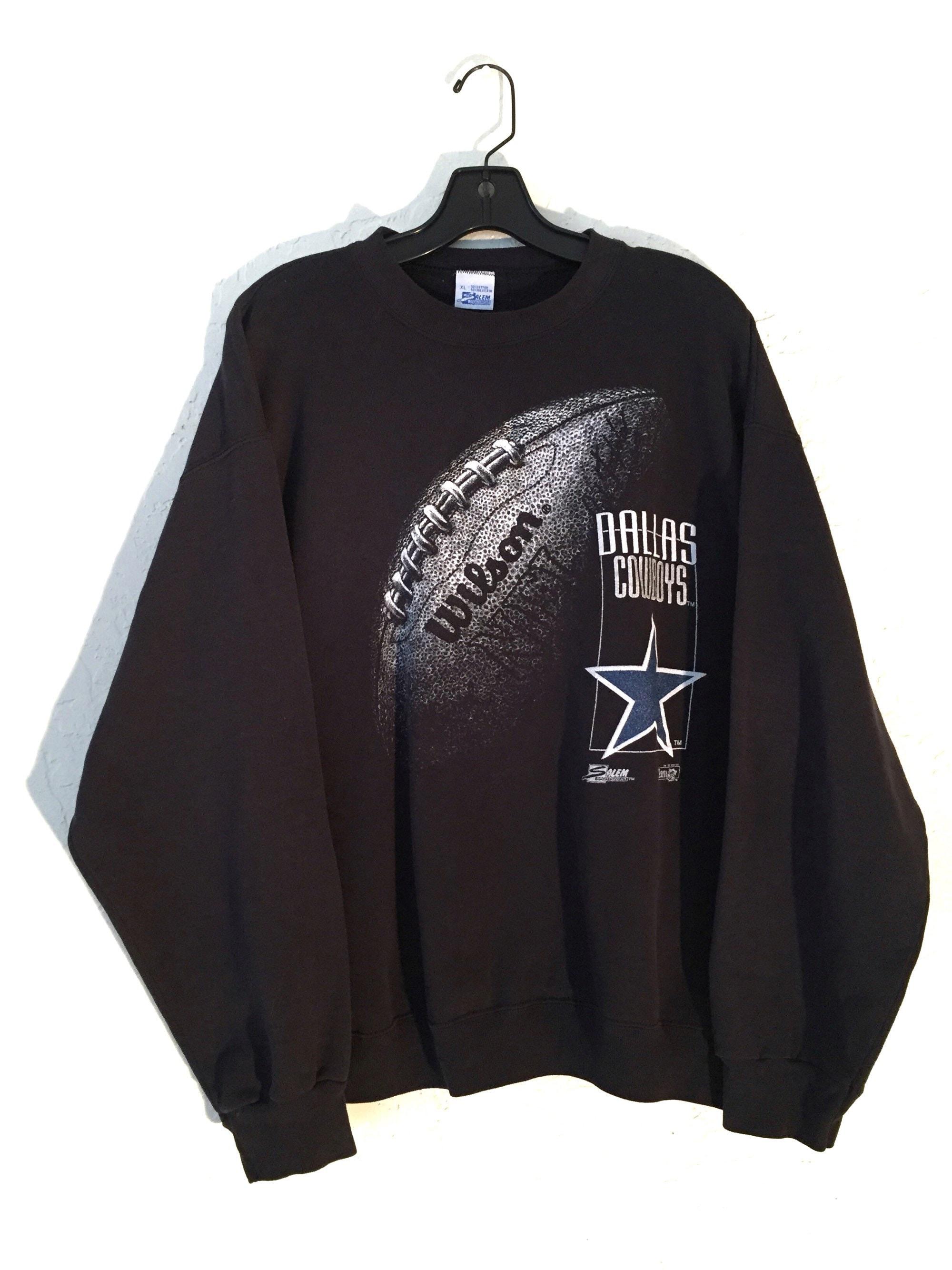 New 90s Vintage NFL Dallas Cowboys Big Logo Black, White and Blue  supplier