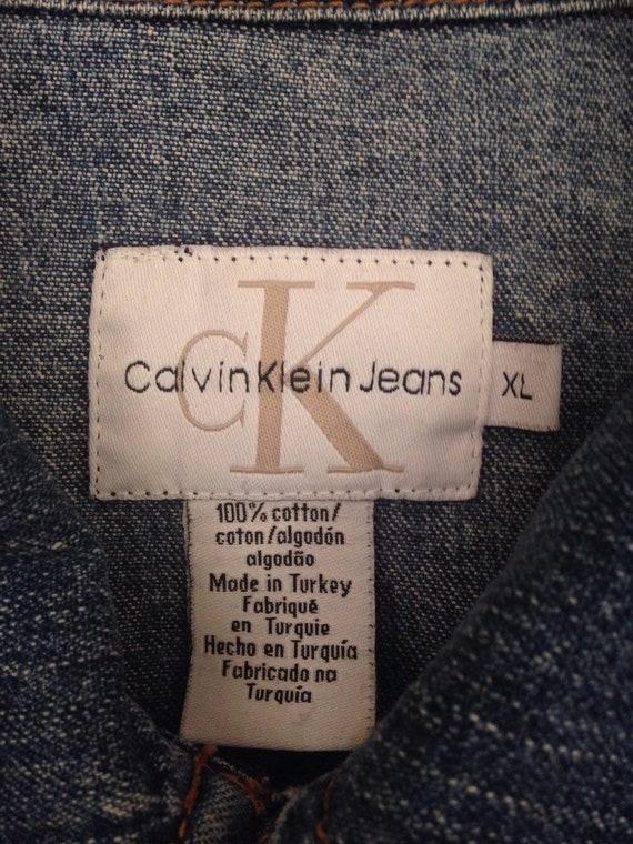 90s Vintage Calvin Klein CK Jean Jacket, Calvin K… - image 2