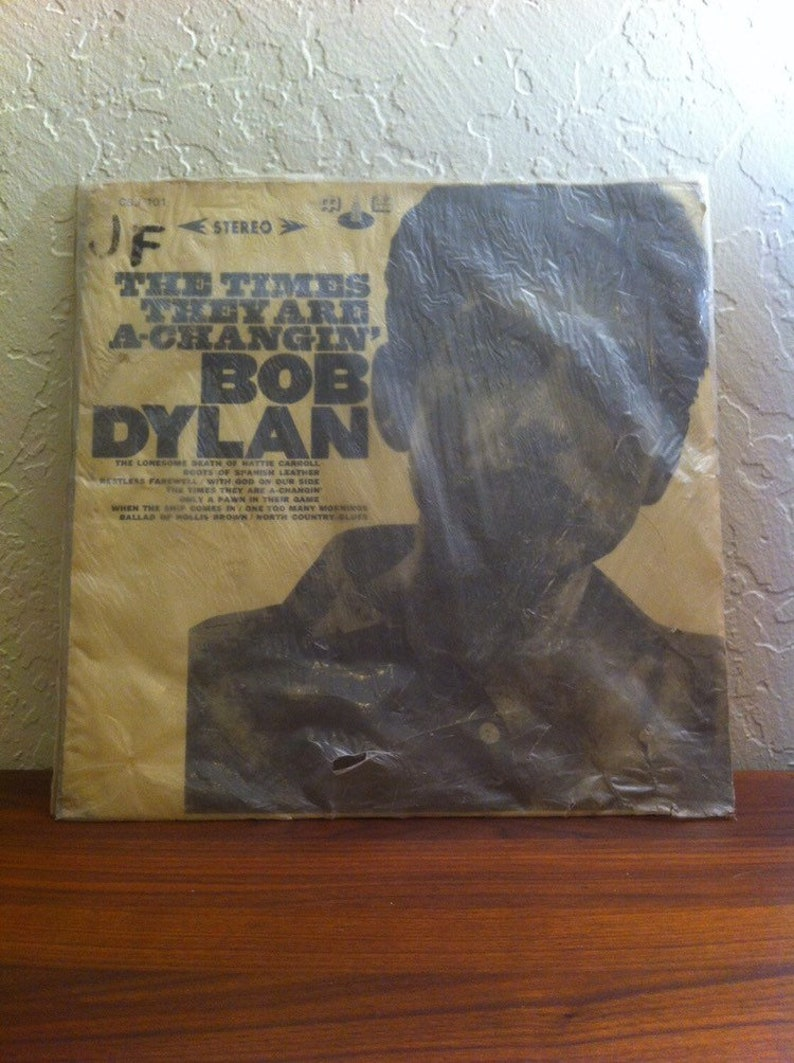 Bob Dylan  The Times They are A-Changin' Rare Taiwan image 0