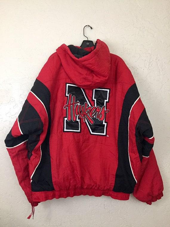 90s Vintage Nebraska Huskers Puffy Hooded Starter