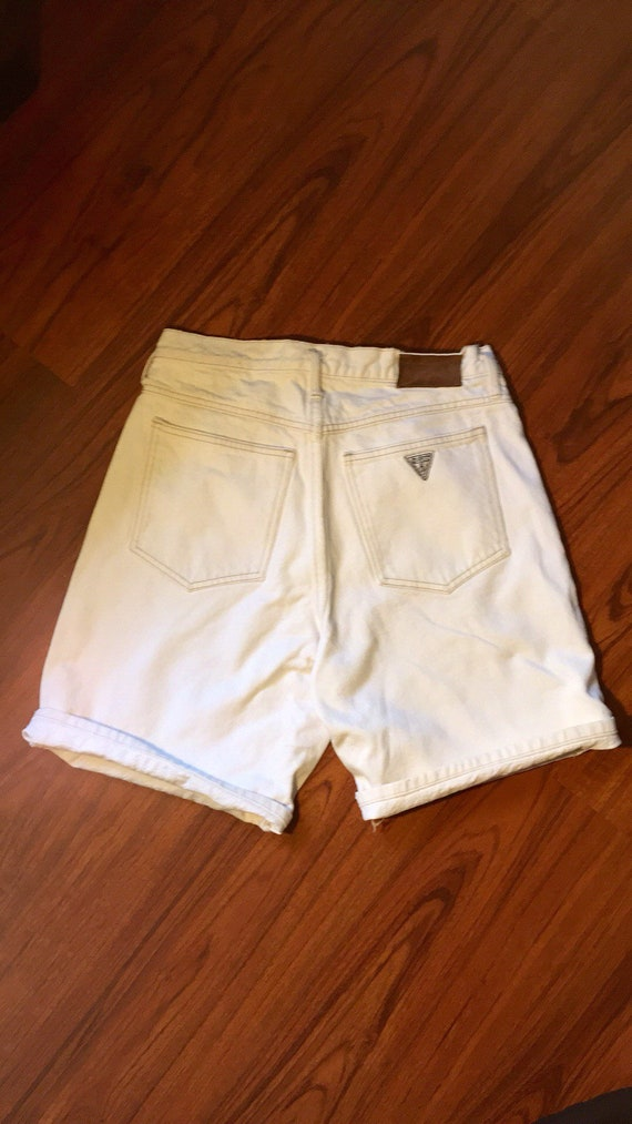 90s Vintage Guess Jeans Shorts, White  jean shorts
