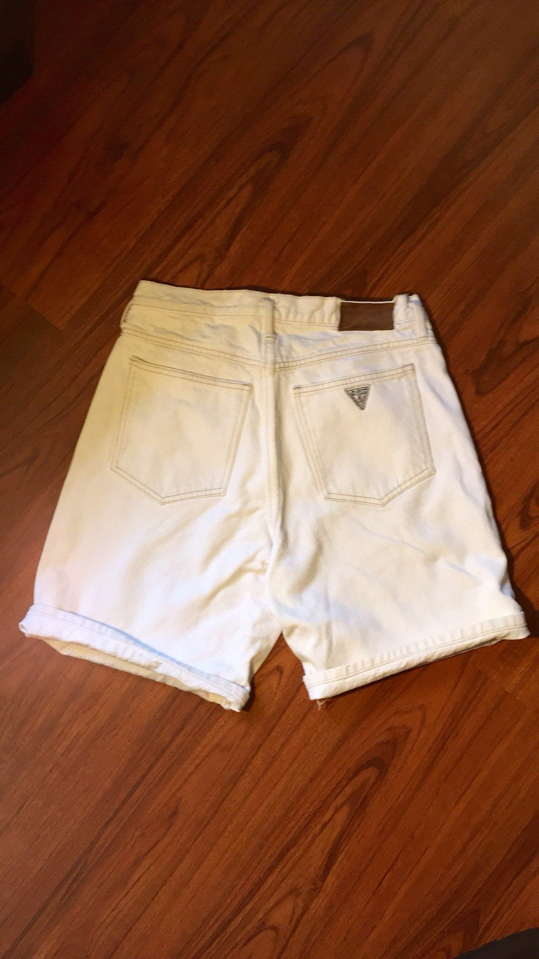 e0aa45fa91 90s Vintage Guess Jeans Shorts, White jean shorts, Button Fly jean ...
