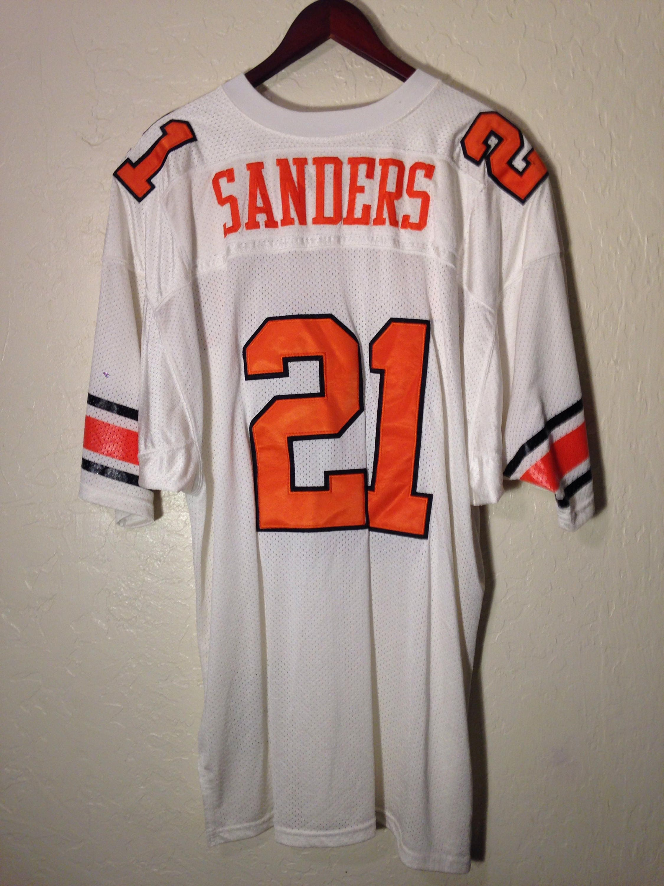 purchase cheap 9061a 3a689 90s Vintage Oklahoma State, Barry sanders, Jersey, football ...