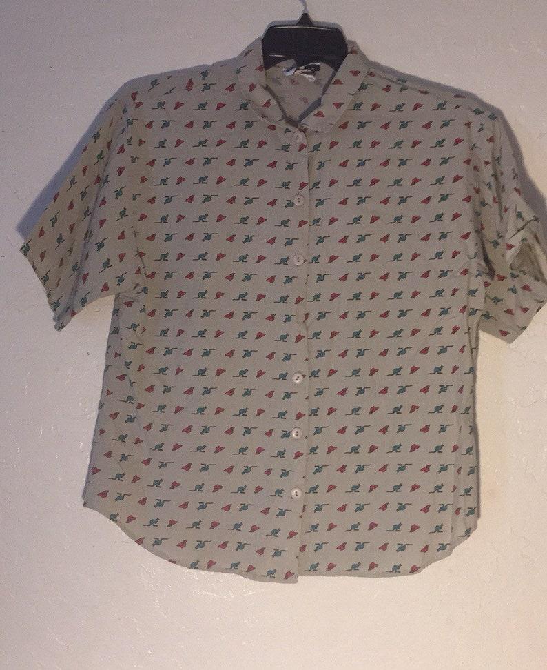 63b887d3 90s Vintage Blouse Vintage Button Down Shirt 90s Button Up | Etsy