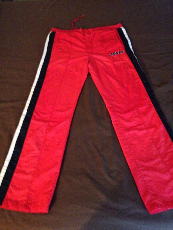 f6a682cbcc4d24 90s Vintage Chicago Bulls Starter Tear Away Track Pants Sweat