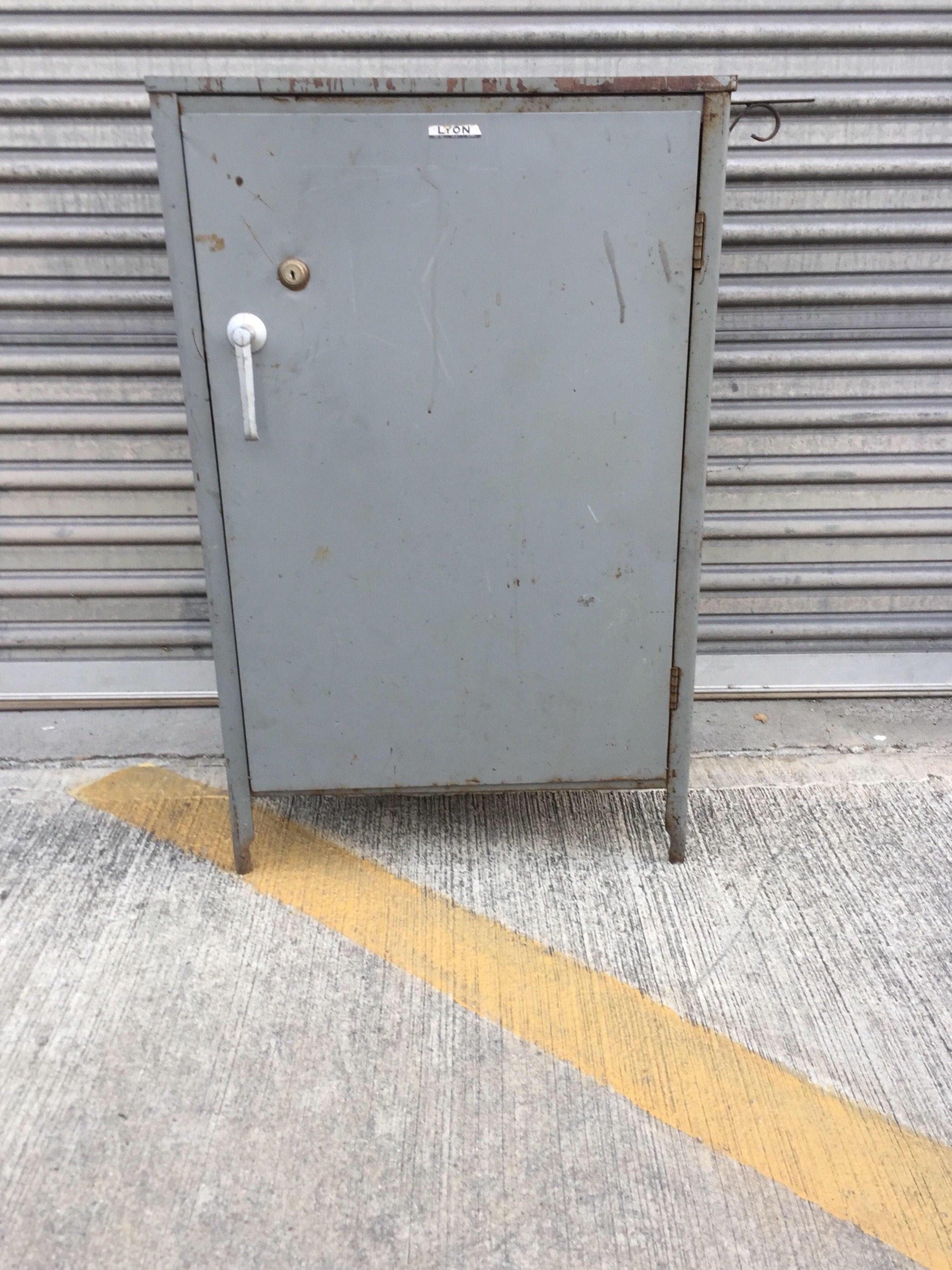 SOLD Mid Century Industrial LYON Steel Storage Cabinet or Metal ...