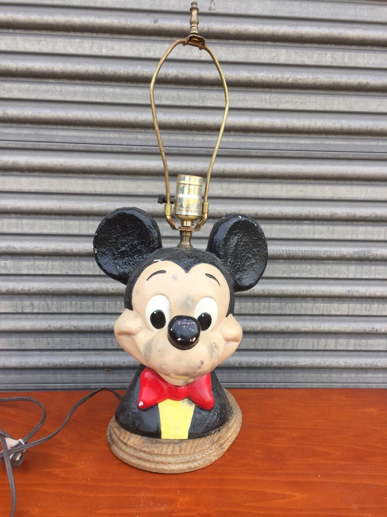 Rare Vintage Mickey Mouse lampe lampe de Table Mickey Mouse | Etsy