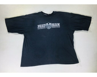 y2K Vintage 90's Phat Farm Oversized Blue Shirt 3xl Urban Hip Hop Streetwear