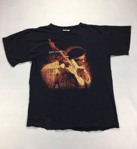 Vintage Jimi Hendrix Graphic Tee Shirt L, Distress