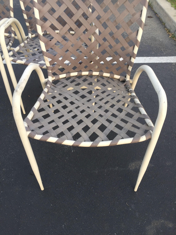 Set Of Four 4 Brown Jordan Tamiami Patio Chairs Vintage Garden