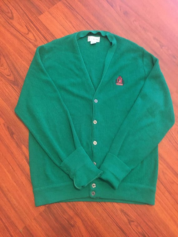 d645554b01529 Vintage 90s IZOD Cardigan Green Oversized Grandpa Sweater