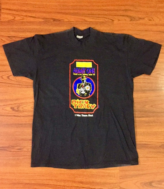 New Old Stock Dick Tracy White T-Shirt Adult Size X-Large