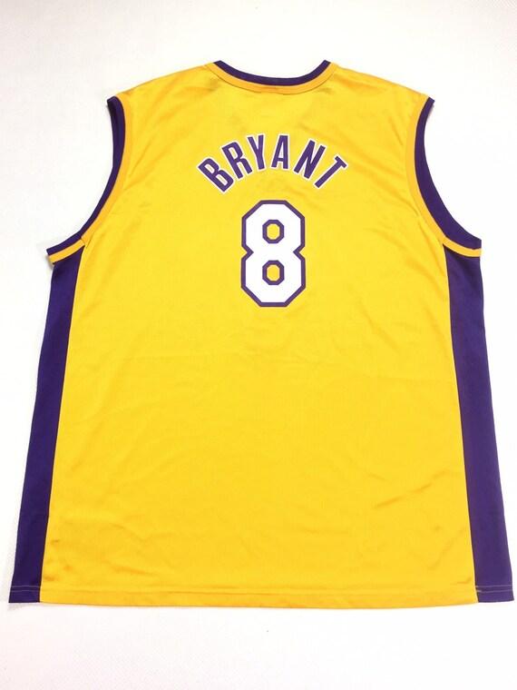 Original NWOT 90s Vintage Champion Kobe Bryant 8 Yellow   Etsy