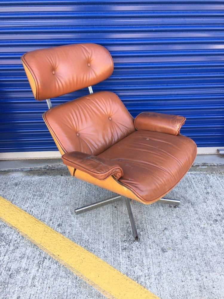 Vintage Mid Century Modern Plycraft Selig Reclining Lounge Chair