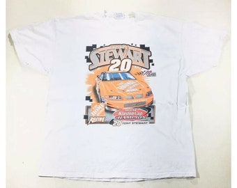 Vintage Tony Stewart NASCAR Home Depot Racing Double Sided T Shirt Men's Size XL, Vintage Nascar Tee, Vintage Nascar Shirt, Vintage Racing