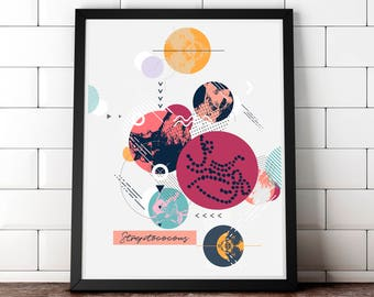 Streptococcal Art Print - Bacteria Art Print - Gram Stain - Microbiology Art - Science Art - Gift for Science Teacher - Medical Art Print