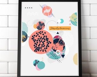 Staphylococcus Art Print - Bacteria Art Print - Gram Stain - Microbiology Art - Science Art - Gift for Science Teacher - Medical Art Print
